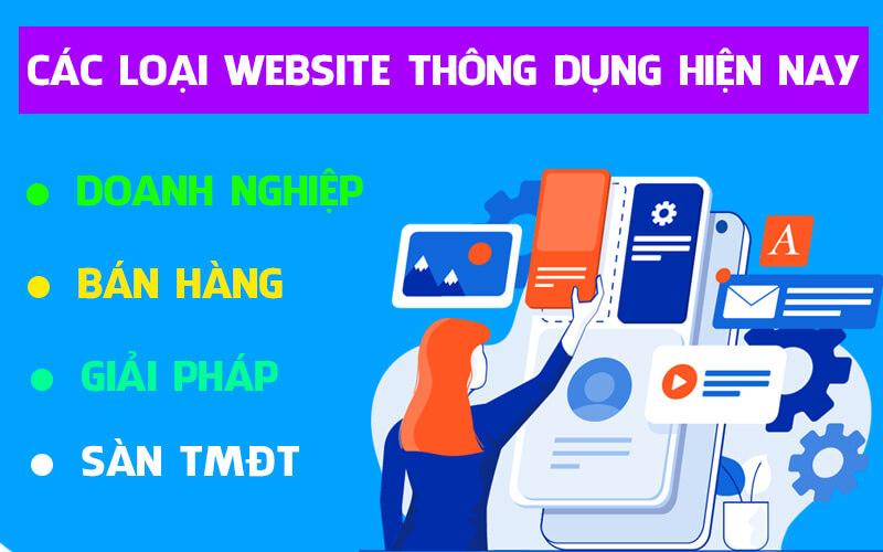 Các loại website thông dụng hiện nay