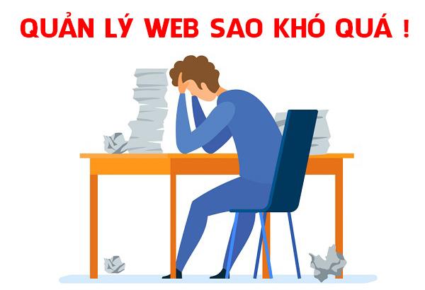 Thiết kế web quản lý dễ dàng